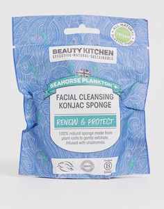 Очищающий спонж конняку для лица Beauty Kitchen Seahorse Plankton