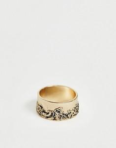 Золотистое кольцо Icon Brand - Золотой