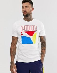 Белая футболка с графическим принтом Puma - Белый