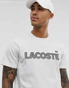 Белая футболка с логотипом Lacoste - Белый