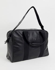 Черная сумка из искусственной кожи Fred Perry - Черный