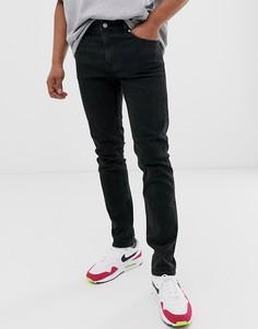 Черные джинсы скинни Weekday Friday