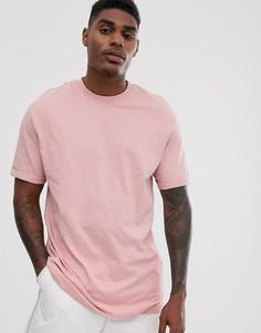 Светло-розовая футболка классического кроя Bershka Join Life - Розовый