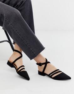 Черные туфли с ремешками RAID Adorn