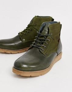 Кожаные походные ботинки оливково-зеленого цвета Levis Jax - Зеленый Levis®