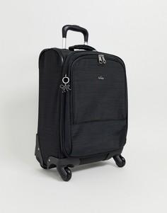 Черная сумка-чемодан с серебристой подвеской обезьянкой Kipling - Черный
