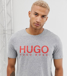 Серая футболка с логотипом HUGO Dolive - Серый