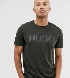 Футболка цвета хаки с логотипом HUGO Dolive - Зеленый