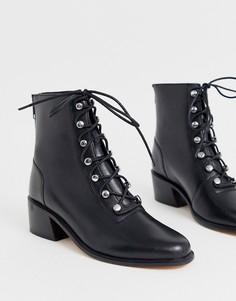 Походные ботинки со шнуровкой Free People eberley - Черный