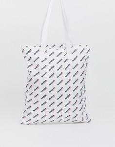 Белая сумка-тоут с логотипом Reebok - Белый