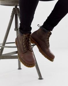 Коричневые кожаные ботинки с 939 6 парами люверсов Dr Martens - Коричневый