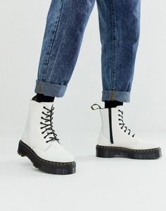 Белые кожаные ботинки на платформе Dr Martens Jadon