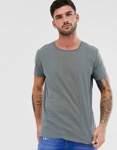 Зеленая футболка со вставками Jack & Jones Premium - Зеленый