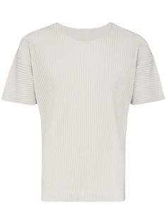 Homme Plissé Issey Miyake плиссированная футболка с короткими рукавами