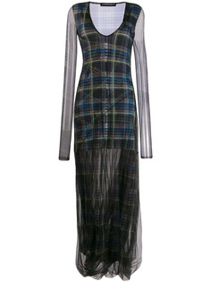 Y/Project прозрачное платье макси в клетку Y.Project