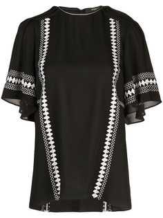 Derek Lam блузка с вышивкой на рукавах