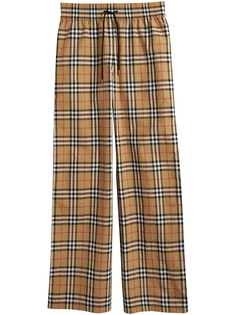 Burberry брюки в клетку Vintage Check на шнурке