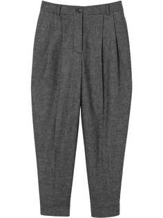 Burberry классические брюки с поясом