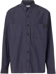 Burberry рубашка с мятым эффектом