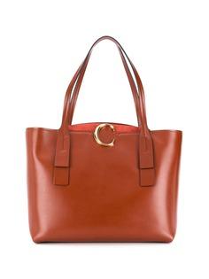 Chloé сумка-тоут среднего размера с металлическим логотипом