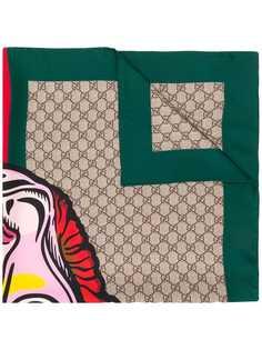 Gucci платок с узором Interlocking GG