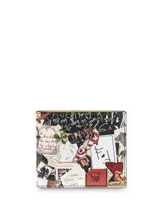 Fendi складной бумажник с принтом
