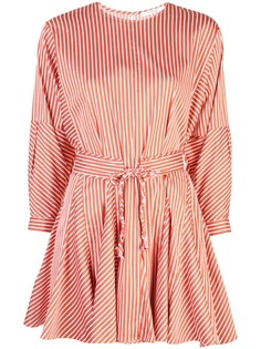 Derek Lam 10 Crosby платье в полоску с длинными рукавами и юбкой годе