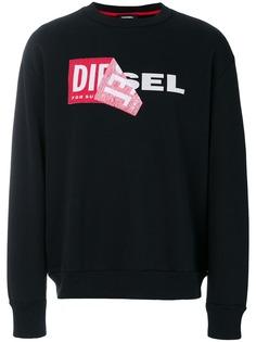 Diesel пуловер Samy с круглым вырезом и логотипом