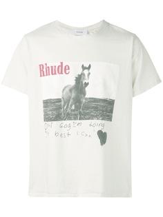 Rhude футболка с графичным принтом