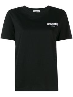 Moschino футболка с вышитым логотипом