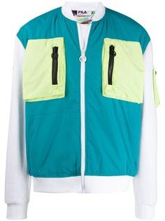 Fila куртка-бомбер с контрастными карманами
