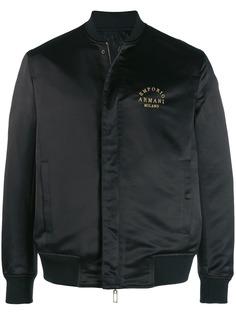 Emporio Armani куртка-бомбер с вышитым логотипом