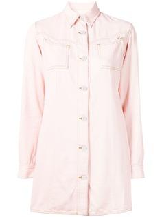 Ganni джинсовое платье-рубашка