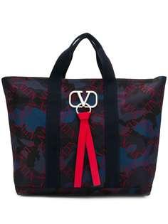 Valentino камуфляжная сумка-тоут Valentino Garavani VRing