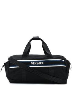 Versace сумка-тоут с контрастным логотипом
