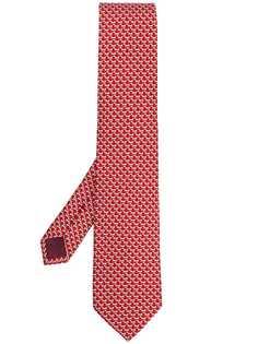 Salvatore Ferragamo галстук с принтом Dog