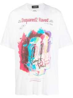 Dsquared2 футболка с графичным принтом