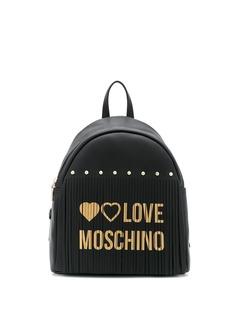 Love Moschino рюкзак с логотипом и бахромой