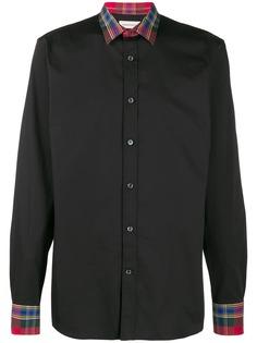 Alexander McQueen рубашка со вставками в клетку тартан
