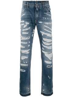 Dolce & Gabbana джинсы прямого кроя с прорезями