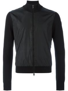 Moncler куртка с трикотажными рукавами