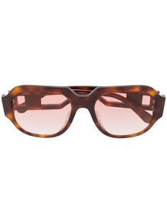 MCM солнцезащитные очки черепаховой расцветки
