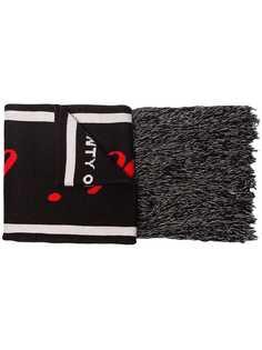 Marcelo Burlon County Of Milan шарф вязки интарсия с логотипом