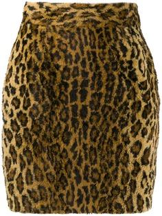 Moschino Pre-Owned юбка 1990-х годов с леопардовым принтом