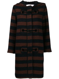 See By Chloé striped duffle coat
