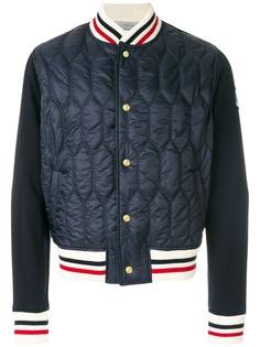 Moncler стеганая куртка бомбер с отделкой