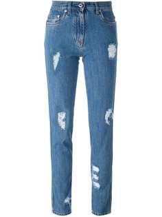 Moschino джинсы с рваными деталями