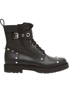Fendi ботинки на шнуровке с заклепками