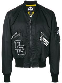 Dolce & Gabbana куртка-бомбер с отделкой в рубчик