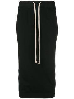 Rick Owens DRKSHDW юбка миди со шнурком